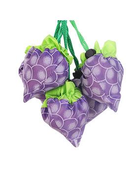 Cartoon Large Grape Strawberry Eco Shopping Travel Tote Bag Folding Reusable Grocery Nylon Bag Eco Bags Shopping Bag  Sh02 by Hisuely