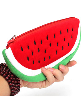 Newest Practical Big Volume Watermelon Fruit Kids Pen Pencil Bag Case Gift Cosmetics Purse Wallet Holder Pouch School Supplies by Ali Express