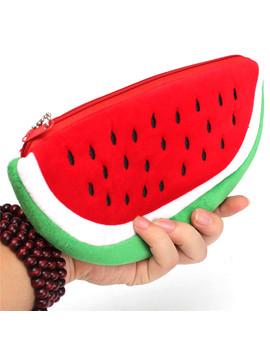 Newest Practical Big Volume Watermelon Fruit Kids Pen Pencil Bag Case Gift Cosmetics Purse Wallet Holder Pouch School Supplies by Ali Express
