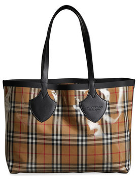 The Medium Giant Tote In Vintage Check by Burberry