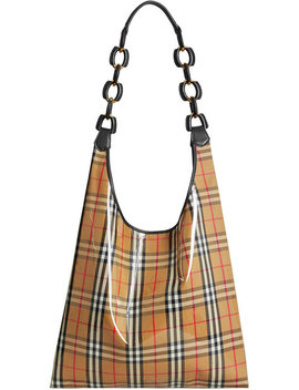 Medium Plastic Shopper With Vintage Check Pouch by Burberry