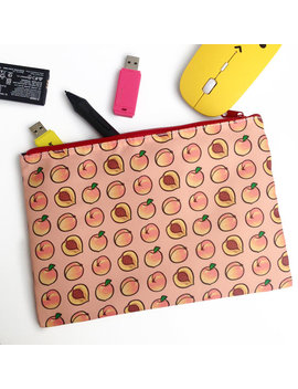 Peach Zip Pouch by Etsy
