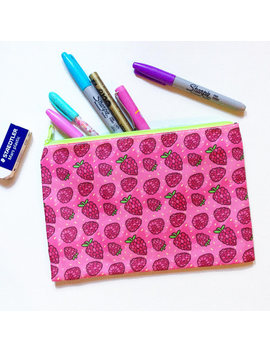 Raspberry Zip Pouch by Etsy
