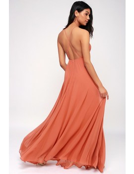 Mythical Kind Of Love Rusty Rose Maxi Dress by Lulus