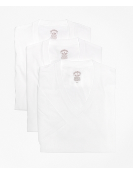 Supima® Cotton V Neck Undershirt   Three Pack by Brooks Brothers