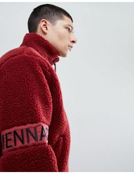 Mennace Borg Track Top In Burgundy by Mennace
