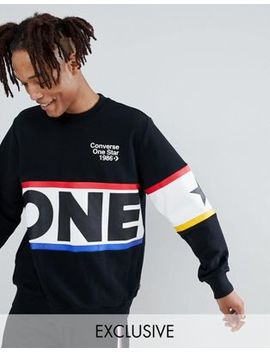 Converse One Star '86 Sweatshirt In Black Exclusive To Asos by Converse