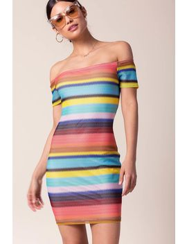 Body Language Stripe Dress by A'gaci