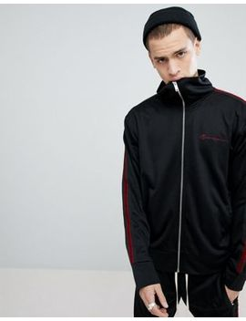 Mennace Side Velvet Stripe Track Jacket by Mennace