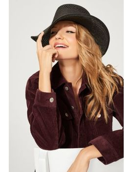 Telescope Straw Boater Hat by Urban Outfitters