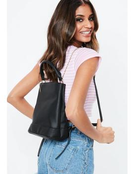 Black Chain Backpack by Missguided