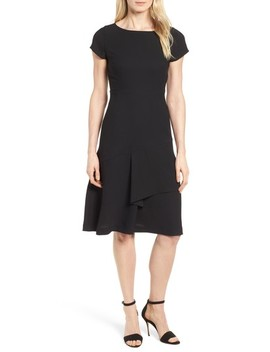 Ruffle Front Fit & Flare Dress by Emerson Rose