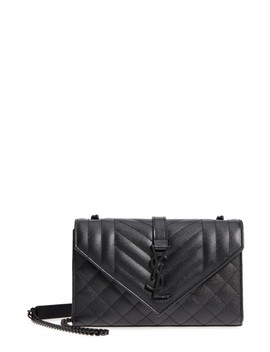 Small Cassandre Leather Shoulder Bag by Saint Laurent