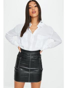 White Oversized Safari Shirt by Missguided