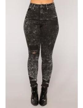 Quest Love Skinny Jeans   Acid Wash Black by Fashion Nova
