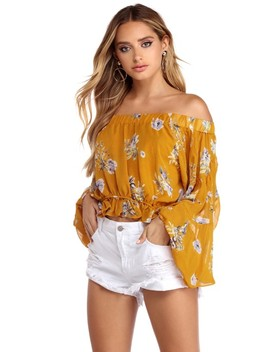 Sheer Intentions Floral Blouse by Windsor