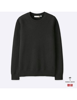 Men Tomas Maier Cashmere Crew Neck Long Sleeve Sweater by Uniqlo