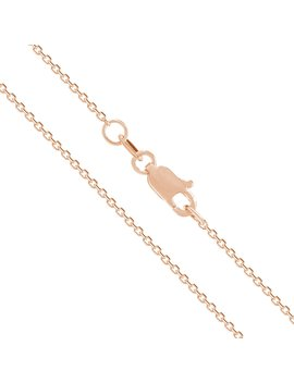 14 K Solid Rose Gold Cable Chain Necklace by Honolulu Jewelry Company