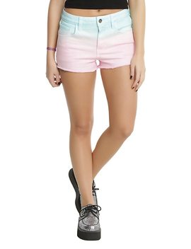 Blackheart Mint & Pink Pastel Ombre Shorts by Hot Topic