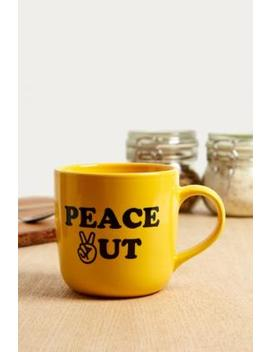 Peace Out Mug by Urban Outfitters