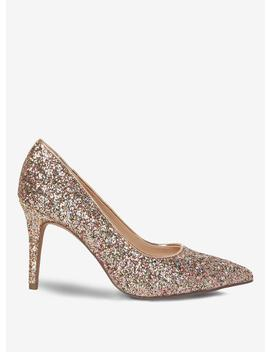 Wide Fit Pink Glitter 'Electra' Court Shoes by Dorothy Perkins