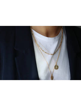 Thick Figaro Chain Necklace   Gold Chain Necklace   Layering Necklace   Long Chain Necklace For Men   Men's Gold Necklace Gold Filled Chain by Etsy