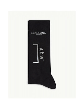 Logo Rib Knit Socks by A Cold Wall