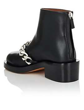 Chain Embellished Leather Ankle Boots by Givenchy