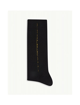 Stretched Logo Ribbed Socks by A Cold Wall