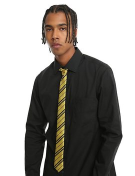 Harry Potter Hufflepuff Striped Skinny Tie by Hot Topic