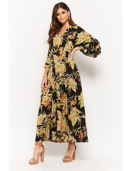 Floral Button Maxi Dress by Forever 21
