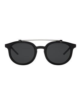 Black Top Bar Sunglasses by Dolce & Gabbana