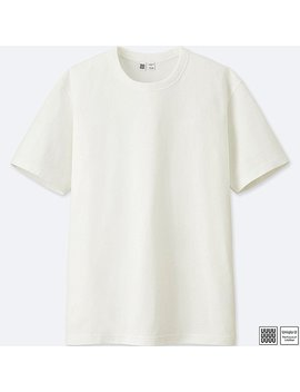 Men Uniqlo U 100% Cotton Crew Neck Short Sleeve T Shirt by Uniqlo