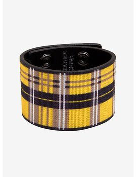 Yellow Plaid Wrist Cuff by Hot Topic