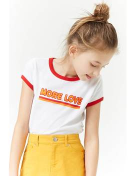 Girls Love Graphic Ringer Tee (Kids) by Forever 21