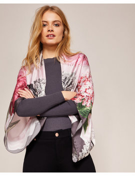 Palace Gardens Silk Cape Scarf by Ted Baker