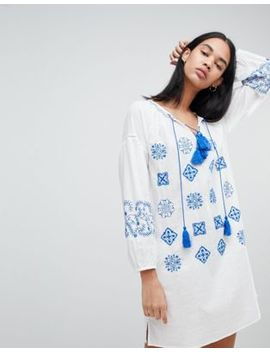 Pepe Jeans Kate Embroidered Tunic Dress by Pepe Jeans