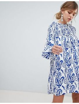 Sister Jane Shift Dress With Balloon Sleeves In All Over Paisley Print by Sister Jane