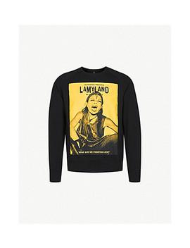 Michèle Print Cotton Jersey Sweatshirt by Lamyland