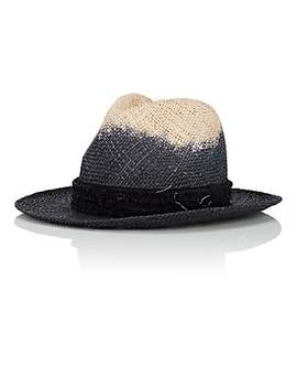 Dip Dyed Straw Fedora by Ca4 La