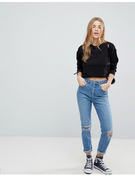 Asos   Sweat Shirt Court Avec Ourlet Brut by Asos Collection