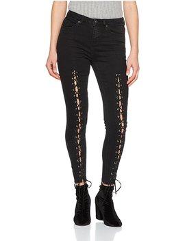 New Look Women's Zen Lace Up Skinny Jeans by
