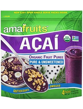 Amafruits Acai Berry Puree   Pure & Unsweetened (24) by Amafruits