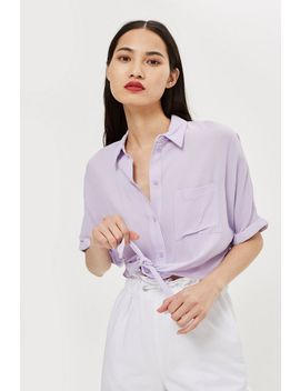 Knot Front Shirt by Topshop