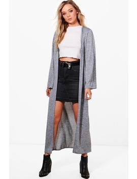 Sarah Maxi Knitted Kimono Cardigan by Boohoo
