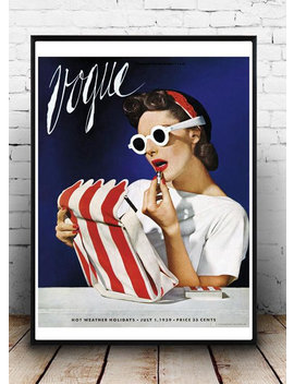 1939 Vogue Cover, Vintage Print,  Icon , Fashion Print, Mode , Home Decor, Retro Print, by Etsy