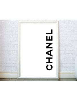 Modern Fashion Print Chanel Poster. Coco Chanel Decor Chanel Wall Art Chanel Art Typography Print Chanel Fashion Modern Graphic Design Print by Etsy