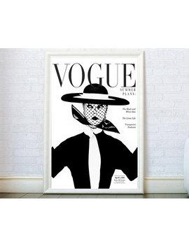 Vogue Wall Art Vogue Cover Poster. Vogue Magazine Cover Print. Fashion Print. Fashion Poster Fashion Wall Art Vintage Vogue Cover 1950 Print by Etsy