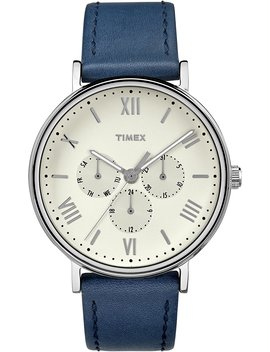 Timex Men's South View With Leather Strap Watch by