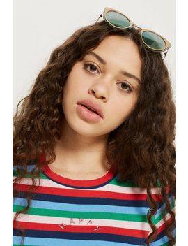 Petite Happy Rainbow T Shirt by Topshop